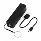2600mAh External Battery Power Bank for Samsung + More - Black + White