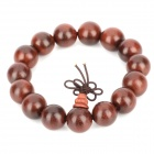 Santos Rose Wood Buddha Bracelet - Coffee