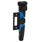SAHOO 31076 Mini Portable Manual Plastic Tire Pump Inflator for Bike - Blue + Black