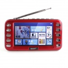 "Katin M8 4.3"" HD Digital Screen Video / Music / E-book / FM Multimedia Player - Cola Red"