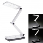 KANGMING KM-6658A 2.2W 72lm 6000K 24-SMD White Light 2-Mode Folding Table Lamp - Black + White