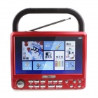 "Katin M17 7"" HD Digital Screen Video / Music / E-book / FM Multimedia Player - Cola Red"