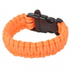 Outdoor Emergency Surviving Quick-Release Parachute Hand Rope / Cord Bracelet w/ Whistle - Orange