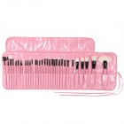 B32E-32 32-in-1 Professsional Cosmetic Brushes Set - Pink + Black + White