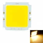 10W 1000lm 3200K COB LED Warm White Light Board - Silver + Yellow (32-36V)