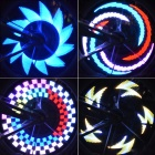 32 LED Lights Water Resistant Wheel Lamp for Bike - Multicolored