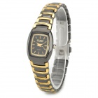 Woman's Fashionable Simple Analog Quartz Wrist Watch - Golden + Black (1 x 377)