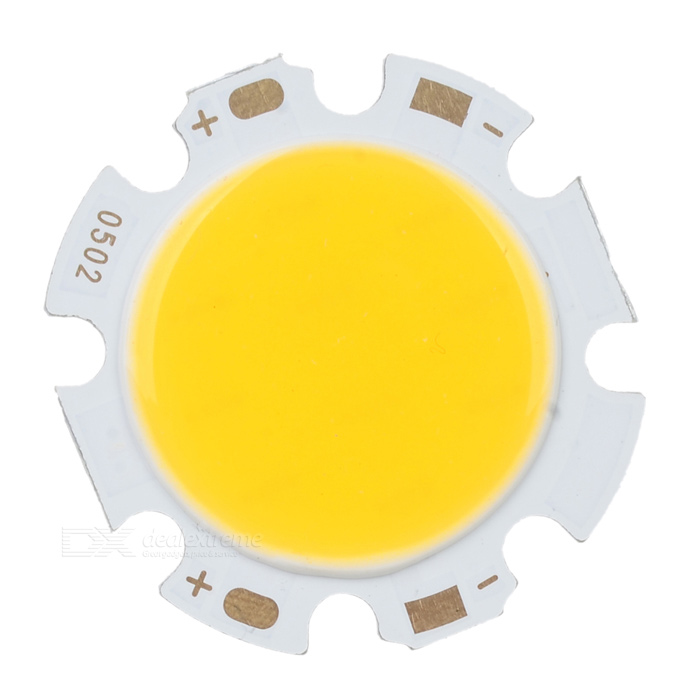 5W 300mA 2700-3000K 400-450lm White Light COB LED Round Strip - Silver (DC 15~17V)