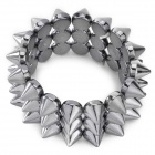 Stylish Cool Punk Style Rivet Plastic Bracelet - Black