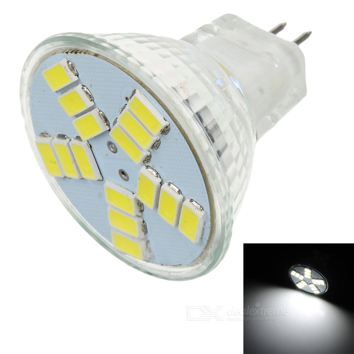 GCD M3 GU4 4W 180lm 6500K 15-SMD 5630 LED White Light Lamp Bulb - White (12V)