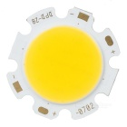 7W 300mA 2700-3000K 560-630lm White Light COB LED Round Board - Silver (DC 21-23V)