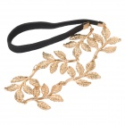 Big Olive Branch Leaves Style Hair Band - Black + Golden