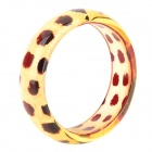 Leopard Pattern Resin Armband - Light Yellow + Red