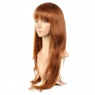 ls011-30 Fashion Tilted Frisette Long Hair Wig - Golden