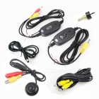 Waterproof Wireless CMOS 170 Degree Wide Angle Car Rearview Camera - Black