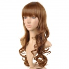 lc073/6p/12 Sweat Full-length Bangs Long Curly Wig - Sandy