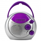 SAYIN SY-868 Mini Waterproof Desktop-AM / FM Radio w / Lautsprecher - Purple + silbrig grau