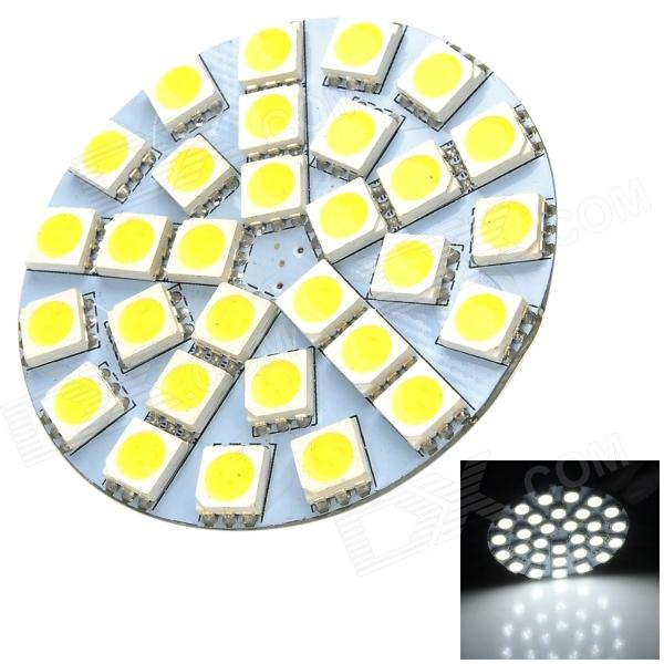 SENCAER G4 3W 155lm 7000K 30-SMD 5050 LED White Light Car Bulb - Yellow + White lx 3w 250lm 6500k white light 5050 smd led car reading lamp w lens electrodeless input 12 13 6v