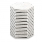 Hexagonal 8mm NdFeB Magnets - Silver (20 PCS)
