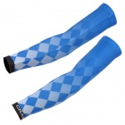 NUCKILY E224 Sunblock Chinlon + Lycra Arm Sleeve for Cycling - Blue (L / Pair)