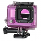 ST-30 Durable PC + Stainless Steel Protective Lensless Case for GOPRO Hero 3 - Purple + Black