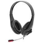 Chenyun CY-726 USB Headband Headphone w/ Microphone + Control - Black