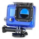 ST-30 Durable PC + Stainless Steel Protective Lensless Case for GOPRO Hero 3 - Blue + Black