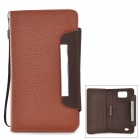 "i-6.0-BR Protective PU Case w/ Strap for  5.8~6.0"" Samsung i9152 / i9200 / Galaxy Mega - Brown"
