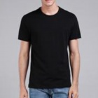 Men's Simple Plain Cotton T-shirt - Black (XL)