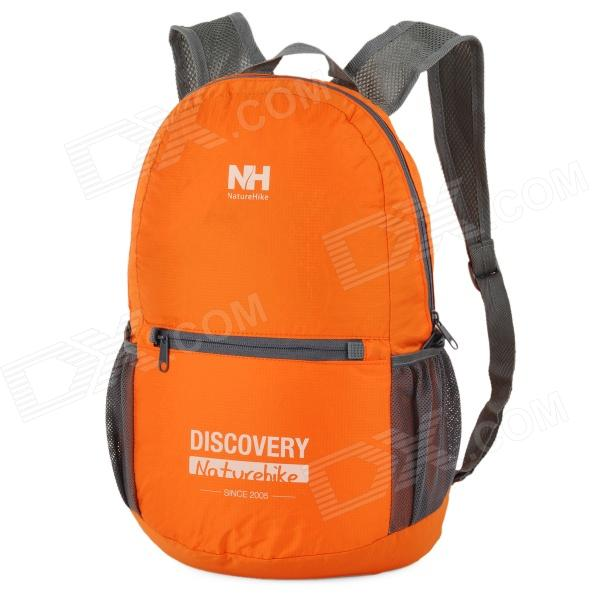 все цены на NatureHike-NH Folding Water Resistant Nylon Double-Shoulder Bag Backpack - Orange + Grey онлайн