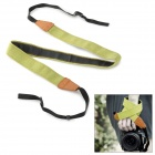 Convenient Leather + Nylon + Plastic Carry Neck / Wrist Strap for DSLR Camera - Green + Brown