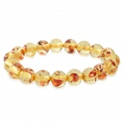 Fashionable Natural Ambler Bracelet - Light Yellow + Vermilion
