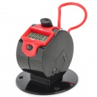THD-8068 Stainless Steel + ABS Manual Counter - Black + Red