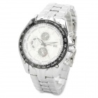 Curren 8083 Men's Electroplated Alloy Analog Quartz Wrist Watch - Silver + White (1 x 626)
