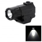 Aluminum Alloy 21mm Gun Mount 3W LED 50km 2-Mode White QD Flashlight - Black (1 x CR2)