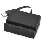 Charging Dock Station w/ USB Cable for Samsung i9300 / S3 / i9500 / S4 / N7100 - Black(10cm)