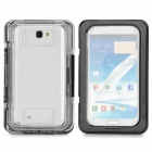SX-N7100 Waterproof Protective Flip-open Case for Samsung N7100 - Black + Transparent
