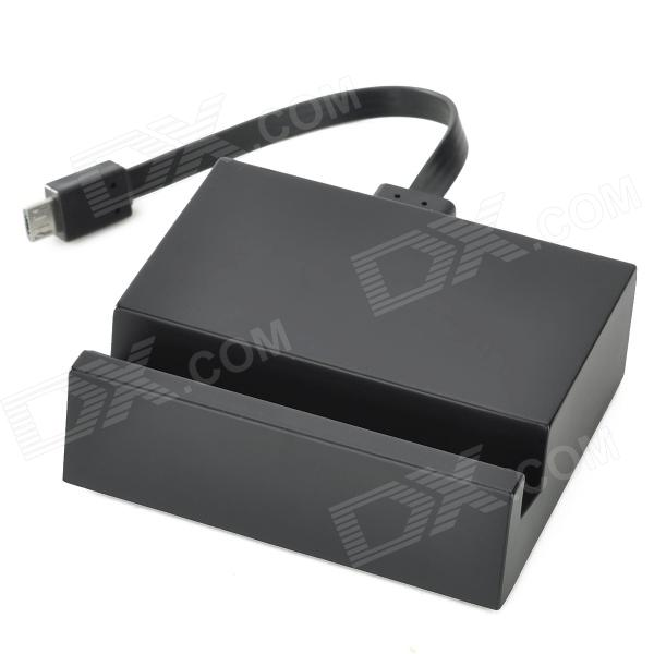 Charging Dock Station w/ USB Cable for Sony L39H - Black (10cm) usb charging docking station w data cable for google nexus 7 black