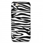 Zebra Pattern Protective Silicone Back Case for Iphone 5C - Black + White