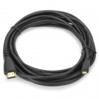 HDMI V1.4 Male to Micro HDMI Adapter Cable for Mobile / DV + More - Black + Golden (500cm)