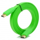 HDMI Male to Male Flat Cable - Green (1080p / 3D Transmission)