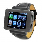 "i6 GSM Watch Phone w/ 1.8"" Screen, Bluetooth V2.0, FM and Quad-Band - Black"