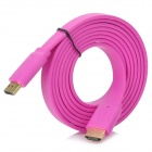1080P 3D HDMI Male to Male Flat Cable - Deep Pink (180cm)