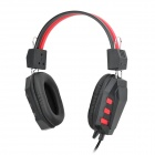 iDEQ N10 Stereo Bass Computer Headphones w/ Microphone - Black + Red (3.5mm Plug / 2.4m)