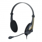 COSONIC CT-620 Computer's Stylish Headphones w/ Microphone - Black (3.5mm Plug / 1.85m)