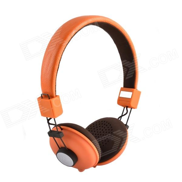 HAVIT HV-H328F Sweetheart Style Independent Dual Audio Interface Music Headphones - Orange + Brown mobile computer and points two headphones line device couple music share 1 to 2 audio wire connector is 3 5 mm