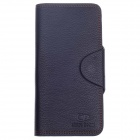 WEIJUESHI WT832 Fashionable Lichee Pattern PU Leather Long Style Folding Men's Wallet - Black
