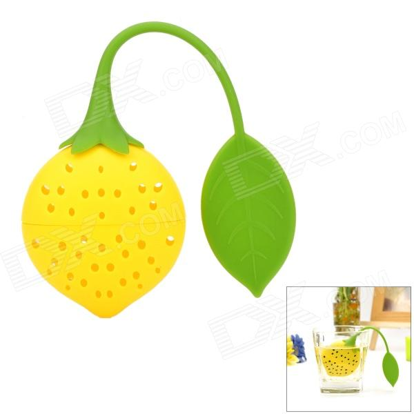 GEL-0123 Creative Lemon Shaped Tea Bonle / Strainer - Yellow
