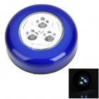 Touch Control Easy-Stick 3-LED White Light Cabinet Light - Blue (3 x AAA)