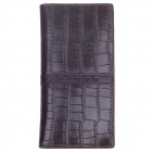 WEIJUESHI WT810 Fashionable Stone Pattern PU Leather Long Style Folding Men's Wallet - Brown